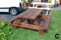 Picnic table Handmade Wooden, Picnic Table, Creative, Furniture, Home Decor, Decoration Home, Room Decor, Home Furnishings, Home Interior Design