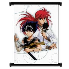"Yu Yu Hakusho Kurama and Hiei Anime Fabric Wall Scroll Poster (16""x21"") Inches:Amazon:Everything Else"