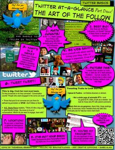 Twitter at a glance: part 2 - the art of the follow. by the daring librarian