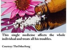 This single medicine affects the whole individual and treats all his troubles.