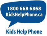 1 800 668 6868 Kids Help Phone