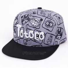 My Neighbor Totoro Snapback Caps Hat Anime Cartoon Men Women Casual Cotton  Baseball Cap Hats 2 717c5432d1a8