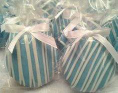 Baby Blue Chocolate Covered Oreos Cookies Baptism Favors Christening Favors Boy's Birthday Favors Baby shower Tiffany Blue Edible Favors