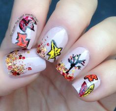 Lacquer: The Best Medicine!: Fall Leaves Nail Art