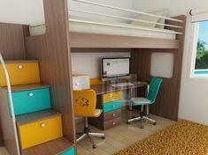 cama con escritorio incorporado - Buscar con Google