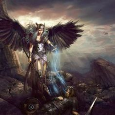 Freya is a Vanir goddess of sex, fertility, war, and wealth, daughter of Njord. She was taken in by the Aesir, perhaps as hostage.