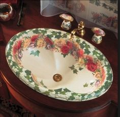 hand painted sink