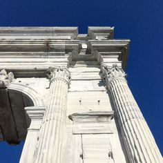 Traiano. #arch #monument #oldtown #roman #marble #white #sky #summertime #shotoniphone #igersmarche #igersancona #igersitalia