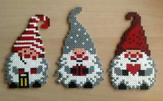 How To Make Dİfferent Handmade Christmas Ornaments For Your Home - DIY Discovers christmas-ornaments-hama-mini-beads-by-_starups_perlerier_ Pearler Bead Patterns, Perler Patterns, Quilt Patterns, Christmas Perler Beads, Christmas Ornaments, Motifs Perler, Hama Beads Design, Peler Beads, Iron Beads
