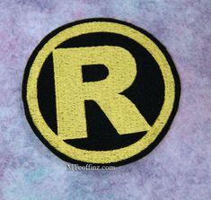 Classic Retro Robin Logo Sidekick Iron On Embroidery by MTthreadz, $6.00