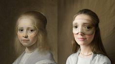 Des masques de sommeil avec des regards de peintures