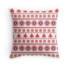 'Capitan America Theme Nordic Folk Ornament' Throw Pillow by FreakyNerdTees Nerdy, Folk, Best Gifts, Finding Yourself, Christmas Gifts, Geek Stuff, Throw Pillows, Ornaments, Blanket