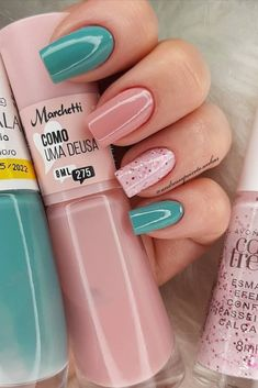 Cute Gel Nails, Chic Nails, Stylish Nails, Trendy Nails, French Gel, Nails Now, Simple Acrylic Nails, Sparkle Nails, Fire Nails