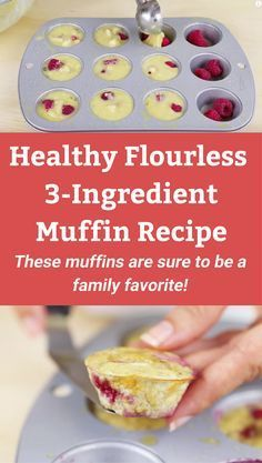 Healthy, no-bake, flourless egg muffin recipe. Learn how to make this 3 ingredient, delicious muffin. Great for a quick healthy breakfast, dessert or snack! Paleo and Gluten-Free!