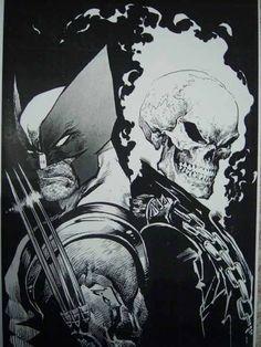 #Wolverine & #GhostRider