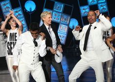 "Nick Cannon teaches Ellen his ""Me Sexy"" dance"