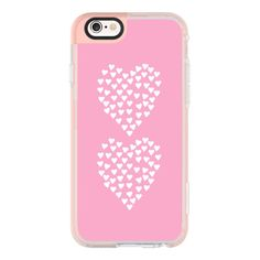iPhone 7 Plus/7/6 Plus/6/5/5s/5c Case - Hearts Heart x2 Pink (4640 RSD) ❤ liked on Polyvore featuring accessories and tech accessories