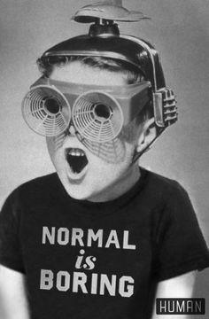 Normal is boring Normal Is Boring, Images Vintage, Photo D Art, Retro Futurism, Grafik Design, Aesthetic Art, Wall Collage, Old Photos, Surrealism