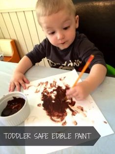 This toddler safe edible paint from LalyMom is so easy to make. This delicious paint tastes good and makes creating simple painting projects a breeze. Grab this guide complete with edible paint ingredients, directions, and ideas. #ediblepaint #kidsactiviites #toddlersafepaint #toddleractiviites