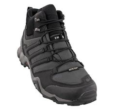 Gli uomini è adidas terrex swift r metà scarpone da montagna di granito nero / ch solido