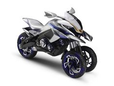 Yamaha revealed a new three-wheeled dual-sport motorcycle crossover concept model called the at the 2014 Intermot show in Germany. Trike Motorcycle, Motorcycle News, T Max 530, Honda, New Ducati, Crossover Cars, Yamaha Motor, Yamaha Bikes, Third Wheel