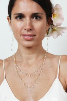 Tiger-Lily-Jewelry-Bridal-Moonstone-Teardrop-Necklace-Model