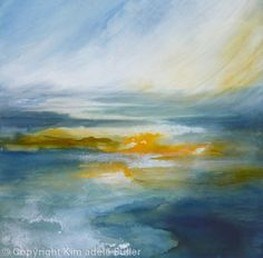 Wild water - Watercolour on canvas