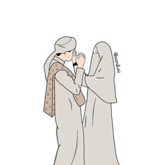 S Love Images, Love Couple Images, Romantic Anime Couples, Cute Muslim Couples, Best Facebook Profile Picture, Hijab Drawing, Islamic Cartoon, Anime Muslim, Hijab Cartoon