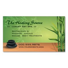 Serene Massage and Spa Appointment Business Card. Make your own business card with this great design. All you need is to add your info to this template. Click the image to try it out!
