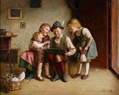 Edmund Adler. with a doll