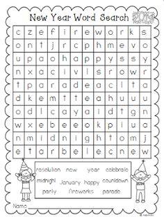 A New Year Word Search Freebie