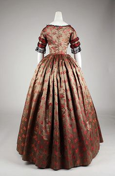 Evening ca. 1842 : American or European : silk