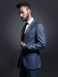 Photo about Portrait of handsome stylish man in elegant blue suit. Image of imposing, business, evening - 61846379 Casual Relationship, Blue Suit Men, What Women Want, Stylish Men, Beyonce, Personal Development, Mercury, 18th, Suit Jacket