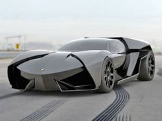 The Lamborghini Ankonian Sport was designed by Slavche Tanevsky. The Ankonian is a mid-engine concept sports car modeled after a stealth fighter. According to Tanevsky, the Ankonian is a more aggressive version of the Lamborghini Reventón. Cool Sports Cars, Sport Cars, Cool Cars, Dream Cars, Supercars, Lamborghini Ankonian, Bmw R65, Sexy Autos, Fancy Cars
