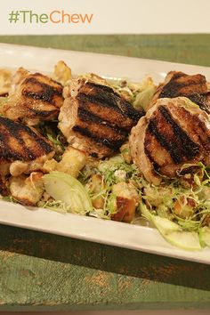 This Grilled Chicken Thighs and Autumn Panzanella Salad recipe is perfect for a fall meal!