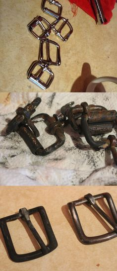 How to age shiny nickel or silver so it looks naturally distressed & weathered.