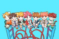 Bts Chibi, Bts Taehyung, Bts Bangtan Boy, Jimin, Cartoon Wallpaper, Bts Wallpaper, Bts Anime, Fanart Bts, Kpop Drawings