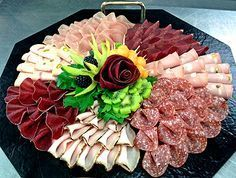 The first time in 2013 was the laying of a meat platter as a new championship . - For the first time in the laying of a meat platter was introduced as a new championship disci - Meat Trays, Meat Platter, Antipasto Platter, Food Trays, Appetizer Recipes, Appetizers, Party Food Platters, Food Garnishes, Party Buffet