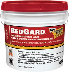 RedGard® Waterproofing and Crack Prevention Membrane and can be used as a slab-on-grade moisture vapor barrier under all types of floor coverings.