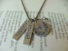 Dance Mom Custom Hand Stamped Aluminum & Crystal Necklace by MyBella  https://www.facebook.com/MyBellaByLizLollar