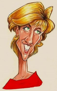 Studio Caricature of Princess Diana