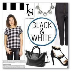 """""""BLACK AND WHITE COLLECTION"""" by look-shop ❤ liked on Polyvore featuring Prada"""