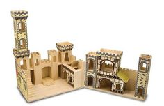 Melissa and Doug Wooden Folding Princess Castle - Blueberry Forest Toys