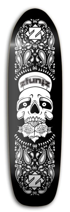 "Amazon.com : ZtuntZ Skateboards ""Grateful Skull"" Old School Skateboard Deck, 8.50 x 32-Inch/14.5-Inch WB, Red/White : Sports & Outdoors"