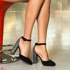 Pantofi cu Toc XKK151 Pewter Mei Pumps, Heels, Pewter, Black, Fashion, Heel, Tin, Moda, Black People