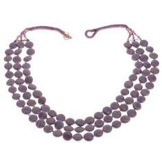 Collier mauve en perles - Bijou fantaisie - Idée cadeau noël: ShalinCraft: Amazon.fr: Bijoux