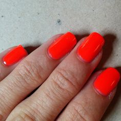 China Glaze Pool Party, 3 coats. This is insanely bright, and was easy to apply.