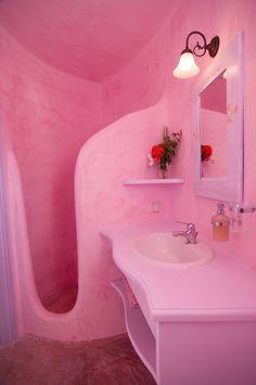44 Perfect Pink Brown Color Combination For Your Bathroom Design - Trendehouse Dream Bathrooms, Dream Rooms, Pink Bathrooms, Dream Home Design, House Design, Spiegel Design, Retro Interior Design, Barbie Dream House, Dream Apartment