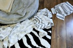 Easy DIY Layered Bed Skirt - The Creek Line House