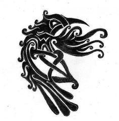 raben tattoo | Spyne: Tattoovorlage keltischer Rabe | Tattoos von Tattoo-Bewertung.de